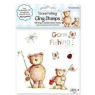 Gone Fishing Rubber Cling Stamps